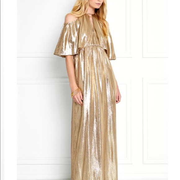 Rachel Zoe Dresses | Marlene Gold Metallic Gown | Poshmark